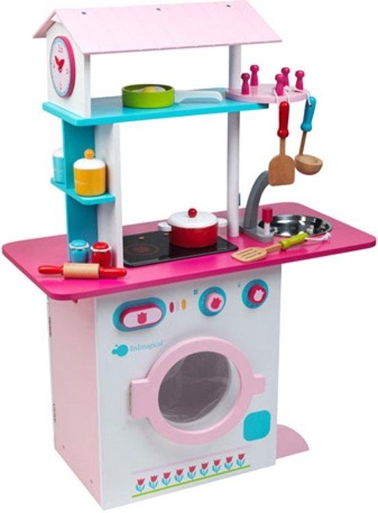 Het beste speelgoed vandaag speciale imaginarium grand chef dual kitchen pink houten - Roze keuken fuchsia ...