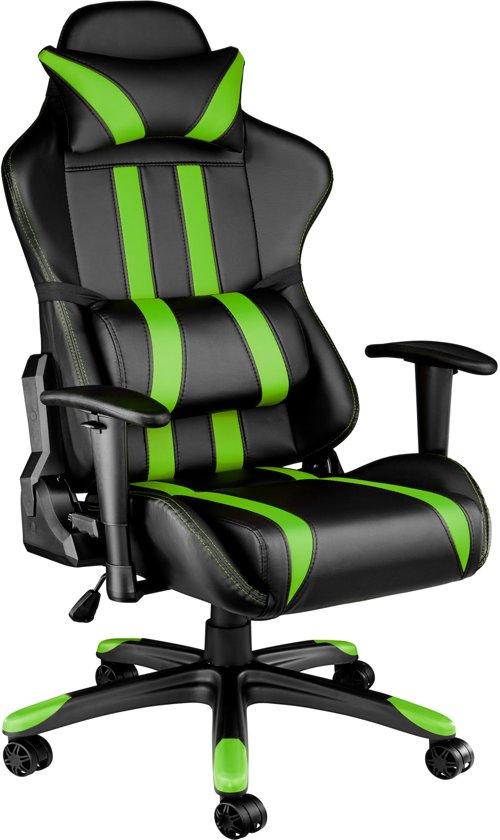 Gaming chair, bureaustoel Premium racing style zwart groen 402032 in De Hees