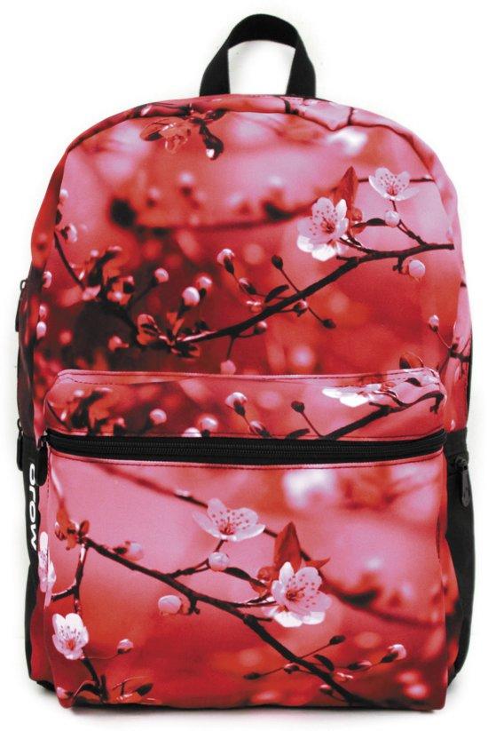 Mojo rugzak Cherry Blossom schooltas met tabletvak in Scharneburen