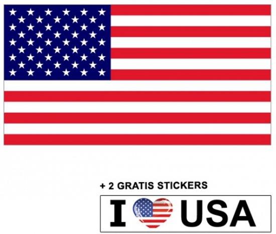 bol amerikaanse vlag met 2 gratis amerika stickers