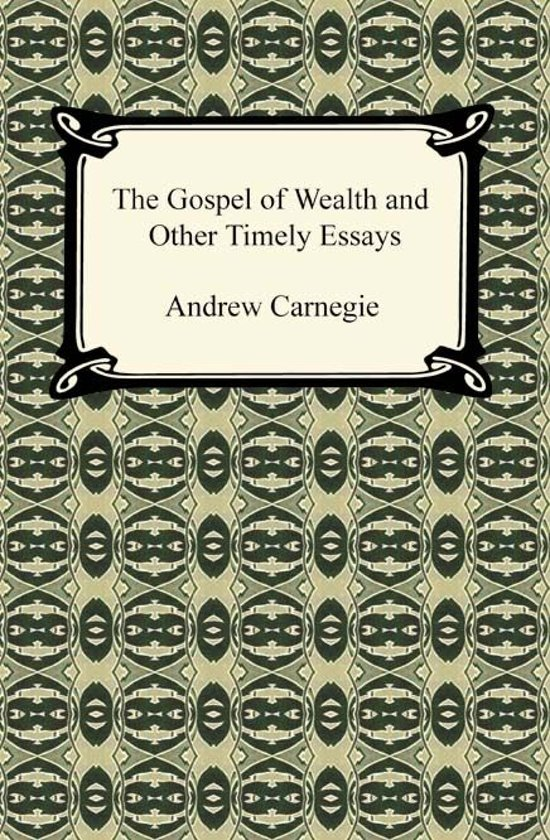 gospel of wealth Start studying gospel of wealth learn vocabulary, terms, and more with flashcards, games, and other study tools.