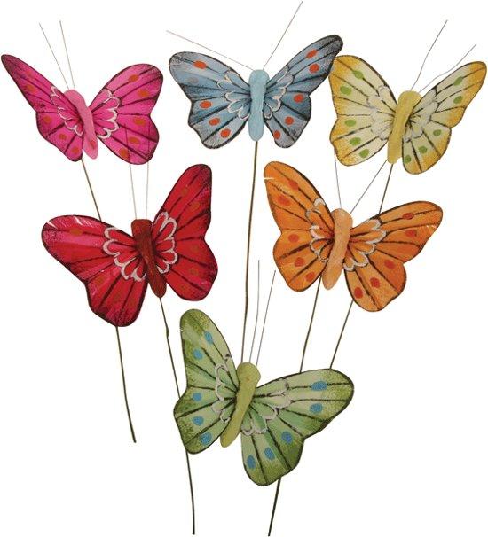 Decoratie vlinders 5 cm - Deco klassiek koken ...