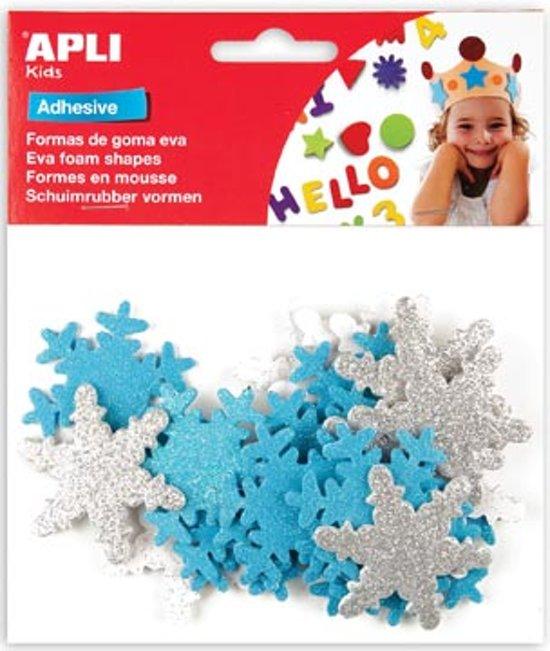 Apli Kids schuimrubber vormen sneeuwvlokken blister met 22 stuks