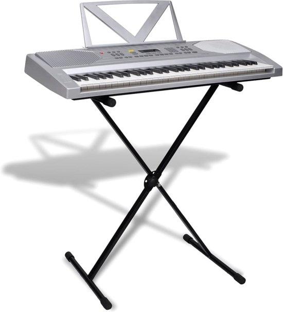 Elektrisch keyboard 61-toetsen met muziek standaard + verstelbare keyboard standaard in Schoten