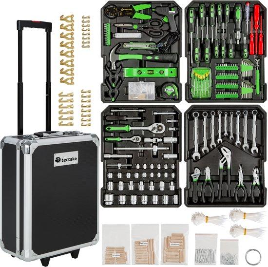 gereedschapskoffer met gereedschap set koffer 416 delig toolbox trolley wielen 401321. Black Bedroom Furniture Sets. Home Design Ideas