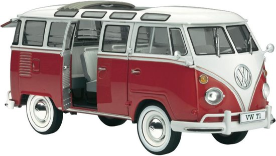 revell bus volkswagen t1 samba bouwpakket 1 24. Black Bedroom Furniture Sets. Home Design Ideas
