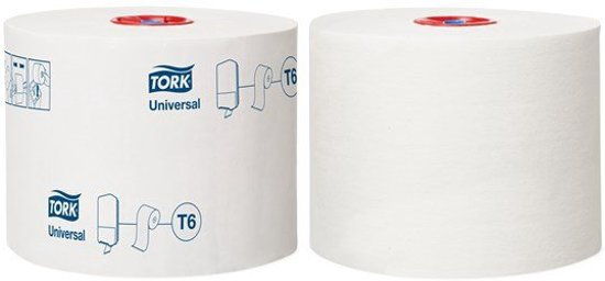 Tork Mid-size Toiletpapier 1-laags Wit T6 Universal in Herfelingen