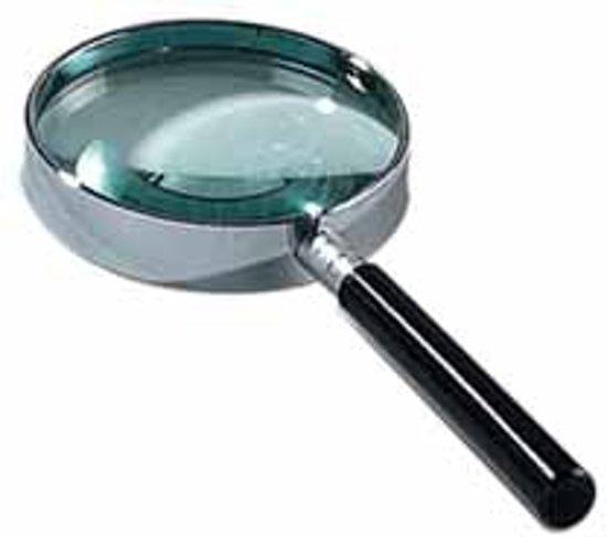 Leesloep diameter: 60 mm vergroot 75 keer op blister in Tongerlo (Antw.)