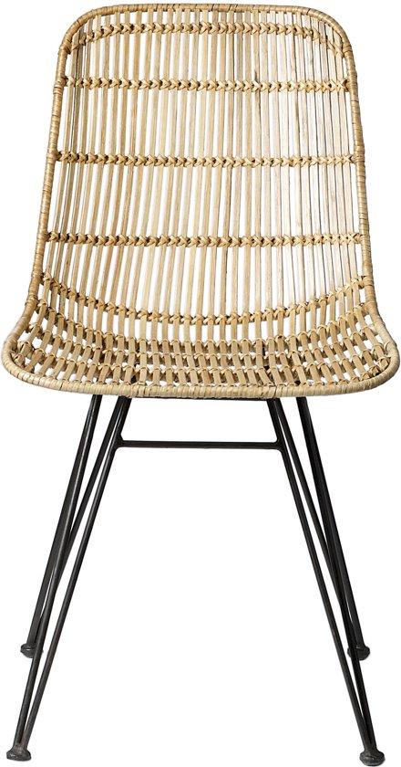 Bloomingville rotan stoel multi for Rotan eettafel stoel