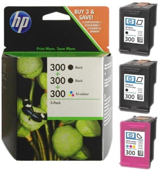 hp 300 inktcartridge zwart kleur multipack. Black Bedroom Furniture Sets. Home Design Ideas