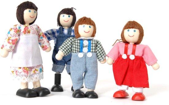 Houten tidlo poppenhuis poppetjes boerenfamilie for Poppenhuis poppetjes