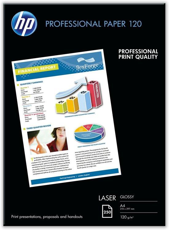 HP Professional Glossy Laser Paper - Printpapier / Dubbelzijdig / 250 vellen / A4