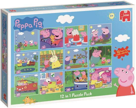 Peppa Pig - 12 in 1 Puzzle in Schieven