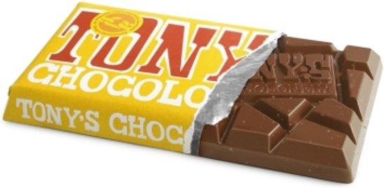 Tony Chocolonely chocolade repen set van 6 / melk & noga in Bierghes