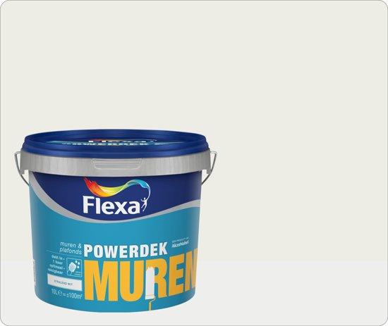20170325&120337_Latex Muurverf Badkamer ~ bol com  Flexa Powerdek Muurverf  Muren & Plafonds  9010  10 liter