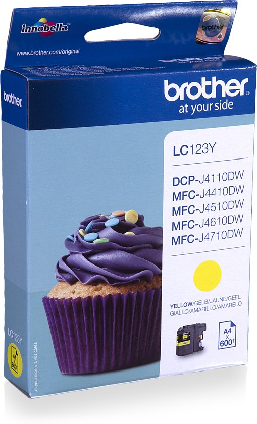 Brother LC-123Y - Inktcartridge / Geel
