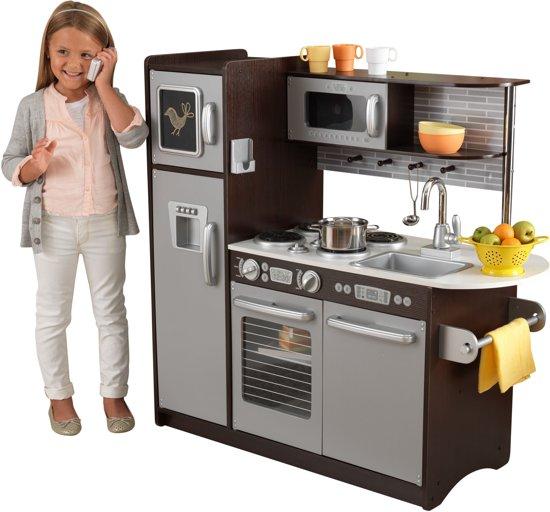 Kidkraft uptown espresso houten keukentje kidkraft - Accessoires cuisine enfant ...