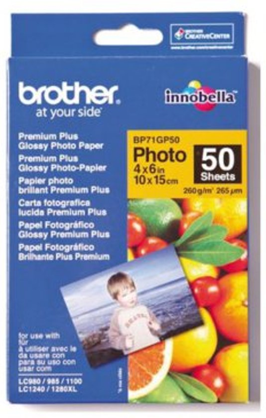 Brother glossy Fotopapier - 10x15cm / 50 vellen