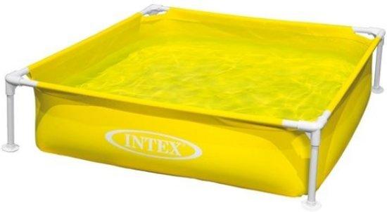 Intex Mini Frame Pool Zwembad 122 X 122 cm - Geel in Loo