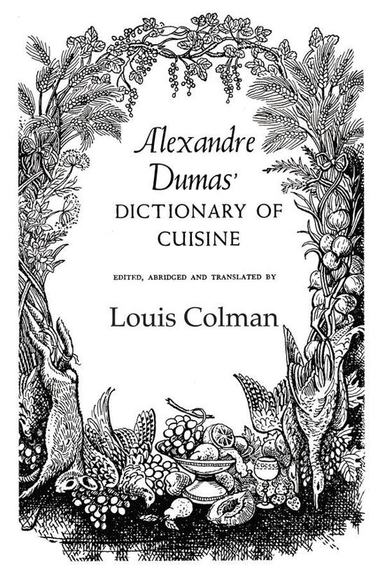 alexander dumas dictionary of cuisine ebook