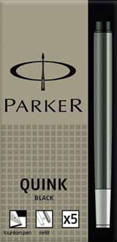 Parker inktpatronen Quink zwart in Vasse