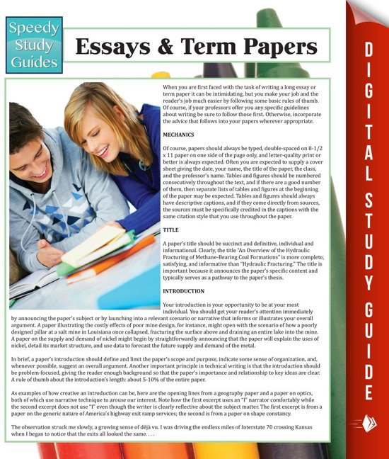 sparknotes essays and term papers