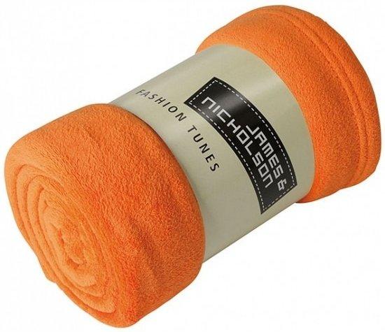 Bol Com Microvezel Fleece Deken Oranje
