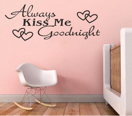 bolcom muursticker always kiss me goodnight