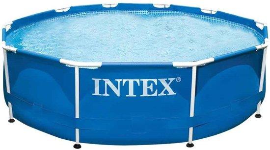Intex zwembad met filterpomp 366 x 76 cm pvc blauw kopen for Filterpomp zwembad intex