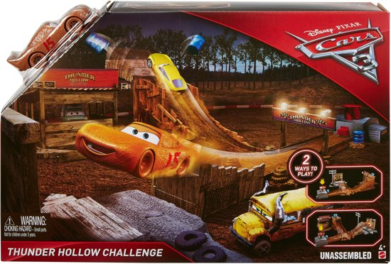 Cars 3 thunder hollow challenge crazy eight speelset mattel - Coloriage cars 3 thunder hollow ...