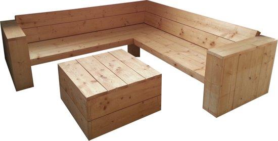 Hoekbank set van steigerhout for Bouwpakket steigerhout