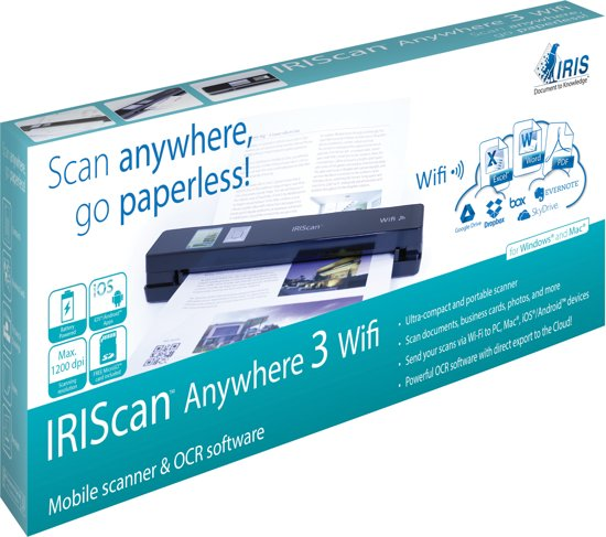 IRISCan Anywhere 3 WiFi - Draadloze Mobiele Scanner