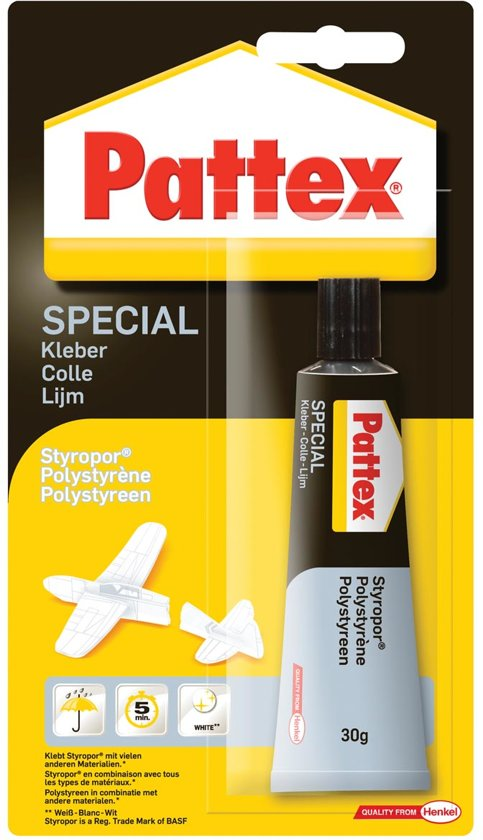 Pattex contactlijm Polystyreen in De Lutte