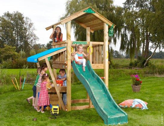 Casa Mini Market - Speelhuis voor Buiten - Met Glijbaan - Donkergroen in Zaventem