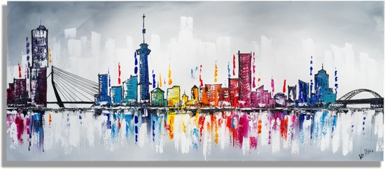 Skyline schilderijen rotterdam for Woonaccessoires rotterdam
