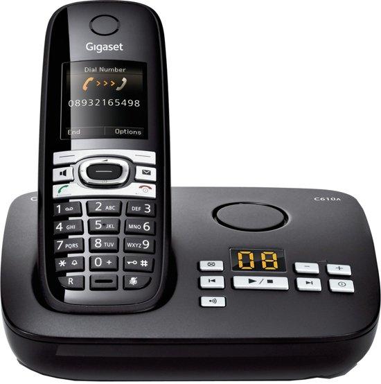 Gigaset C610A - Single DECT telefoon met antwoordapparaat - Zwart