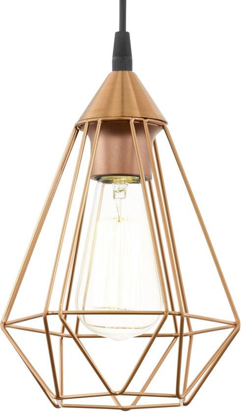eglo vintage tarbes hanglamp draadlamp 1 lichts 170mm koperkleurig. Black Bedroom Furniture Sets. Home Design Ideas
