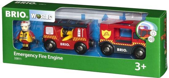 BRIO Brandweer locomotief - 33811 in Hulsen