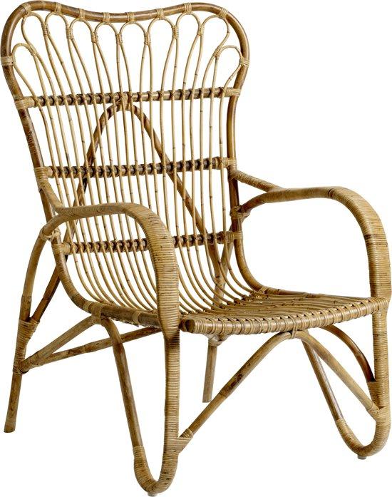 Bloomingville rotan fauteuil met arm bruin for Stoel kind ikea