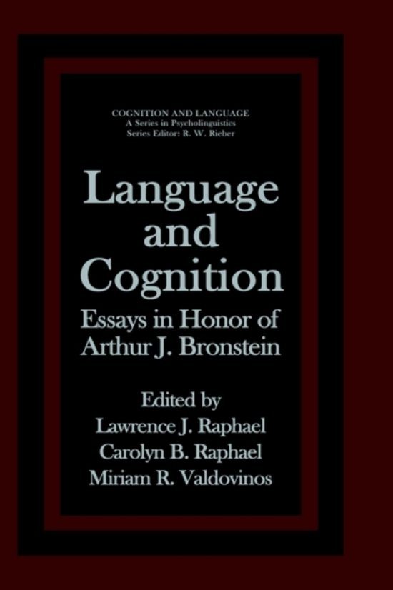 language and cognition The relation of language and cognition is a central research focus in linguistics at berkeley for decades, research in this department has been influential in explaining linguistic.