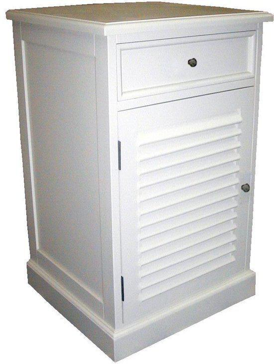 Senze krepyak nachtkastje wit hout wonen - Wit hout nachtkastje ...