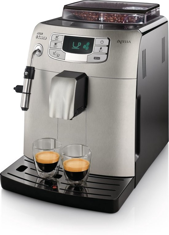 Saeco Intelia HD8752/83 - Volautomaat espressomachine - Zilver