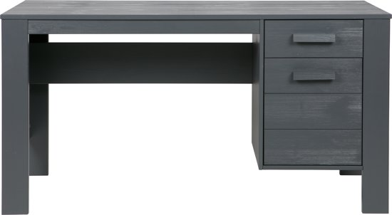 woood dennis bureau 140 cm steelgrey. Black Bedroom Furniture Sets. Home Design Ideas