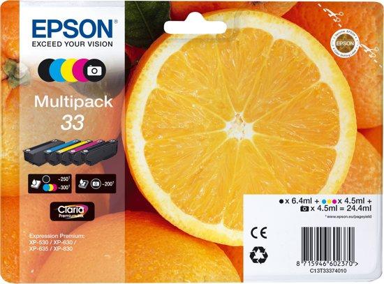 Epson 33 - Inktcartridge / Zwart / Foto Zwart / Cyaan / Magenta / Geel