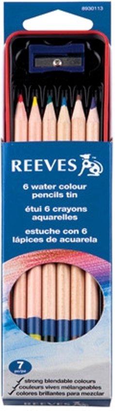 Reeves 6 Watercolour pencils tin set in Nederhemert-Noord