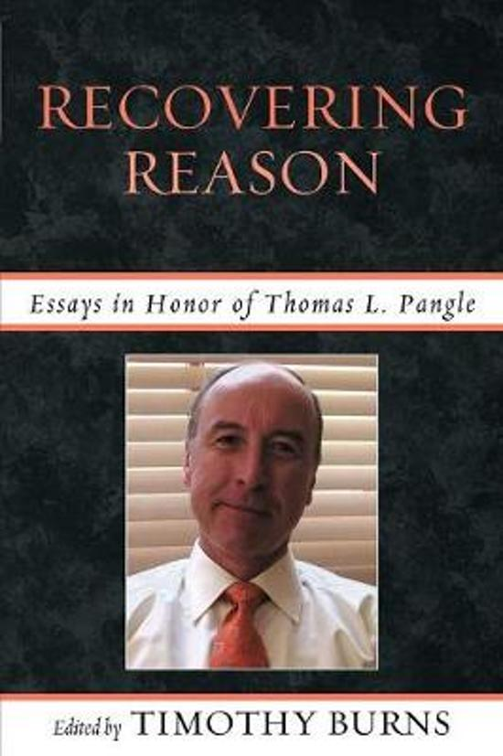 essays in honor of thomas pangle