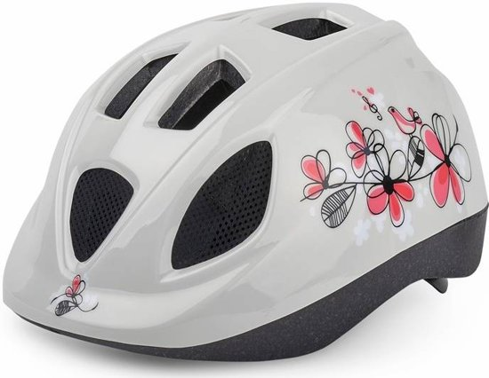 Polisport helm Flowers XS (wit/roze) in Gijsselte