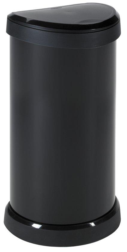 curver decobin pushknop prullenbak 40 l zwart metallic. Black Bedroom Furniture Sets. Home Design Ideas