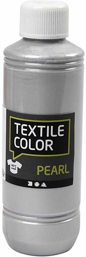 Textile Color, zilver, pearl, 250 ml in Zaandijk