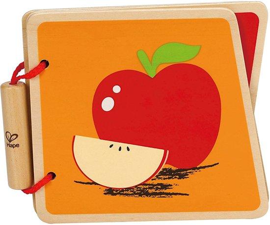 Houten babyboek fruit in Heusden (O.Vl.)